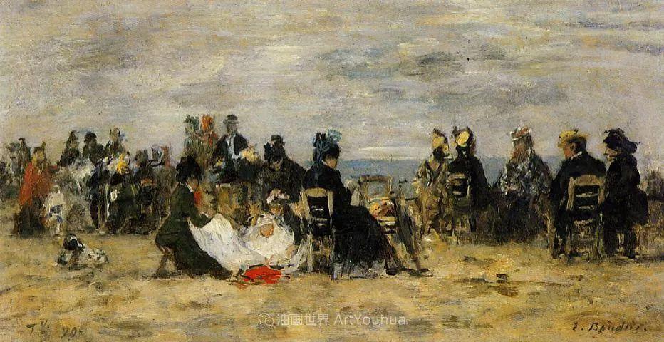 莫奈的启蒙恩师,法国最早印象派画家欧仁·布丹插图154