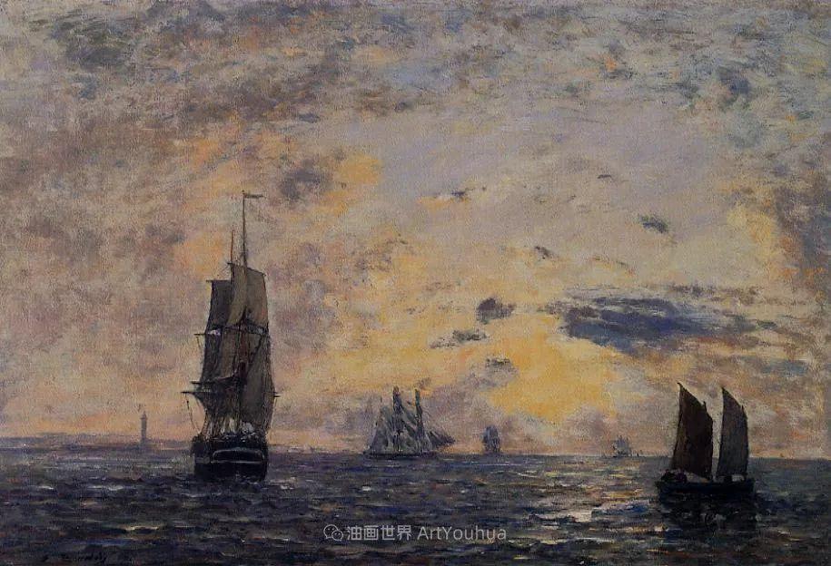 莫奈的启蒙恩师,法国最早印象派画家欧仁·布丹插图162