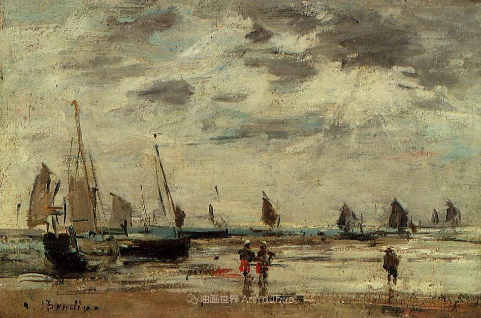 莫奈的启蒙恩师,法国最早印象派画家欧仁·布丹插图164