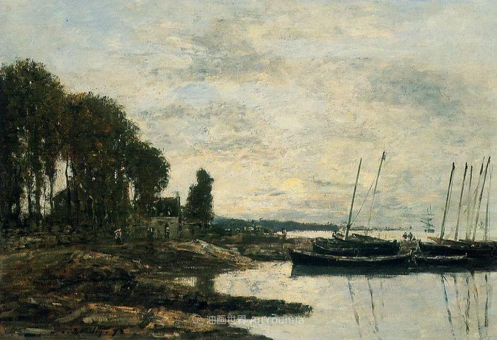 莫奈的启蒙恩师,法国最早印象派画家欧仁·布丹插图166