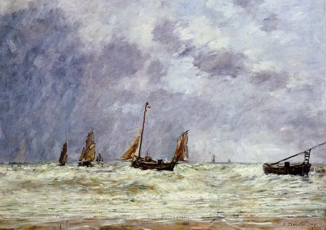 莫奈的启蒙恩师,法国最早印象派画家欧仁·布丹插图170