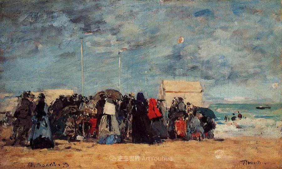 莫奈的启蒙恩师,法国最早印象派画家欧仁·布丹插图186