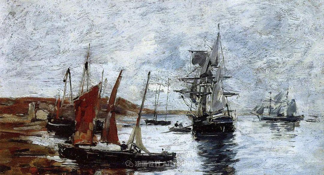莫奈的启蒙恩师,法国最早印象派画家欧仁·布丹插图188