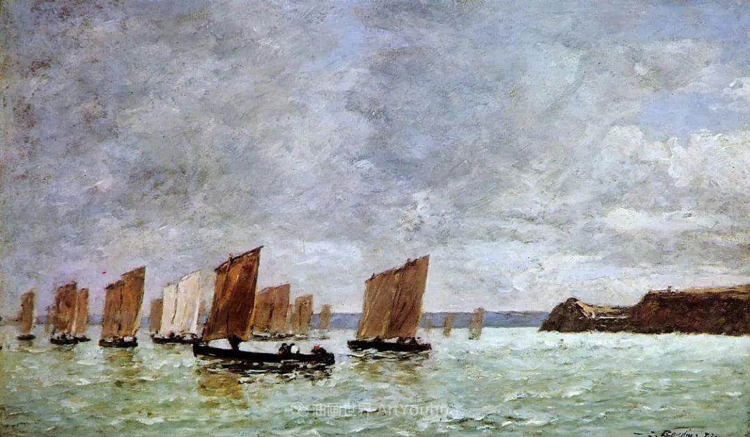 莫奈的启蒙恩师,法国最早印象派画家欧仁·布丹插图192
