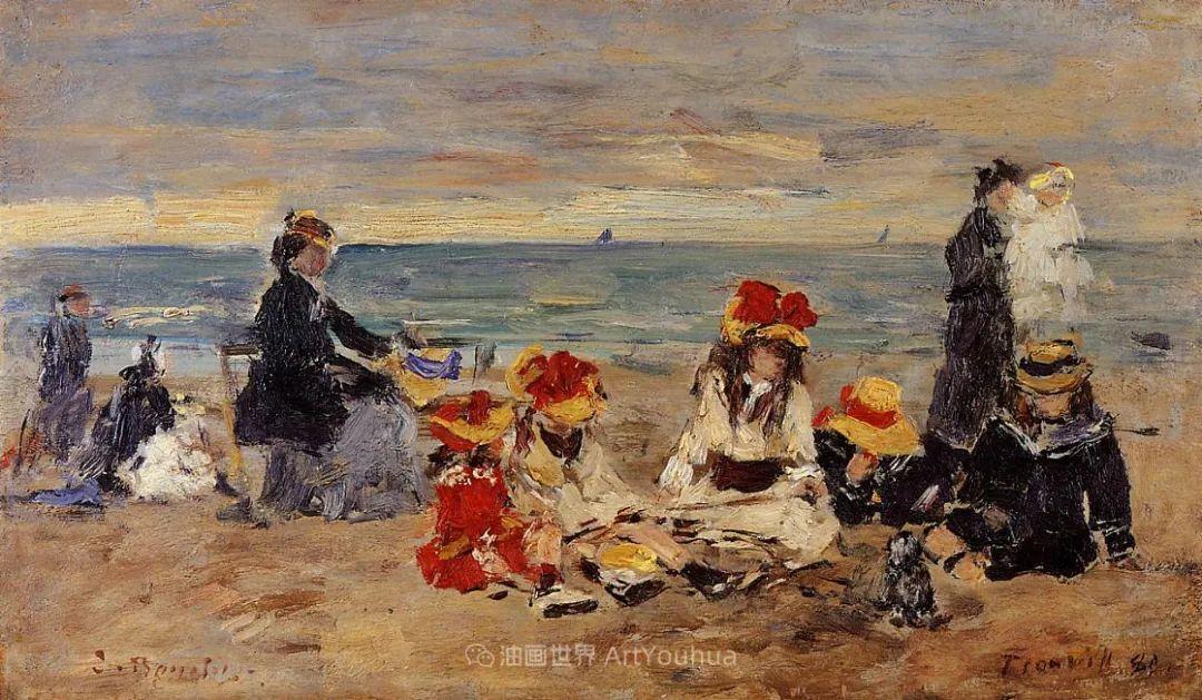 莫奈的启蒙恩师,法国最早印象派画家欧仁·布丹插图206
