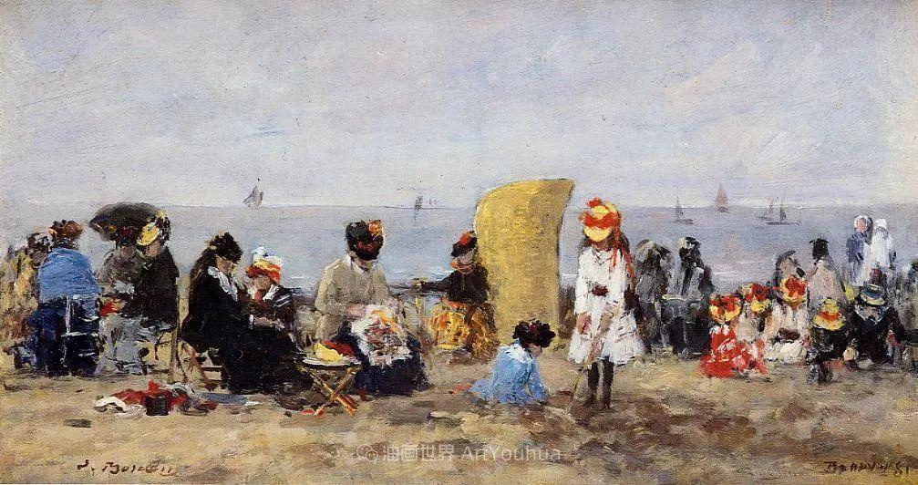 莫奈的启蒙恩师,法国最早印象派画家欧仁·布丹插图210