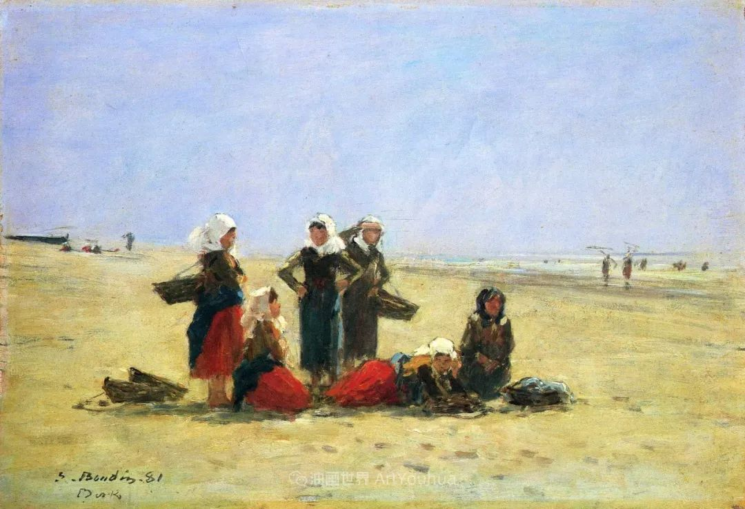 莫奈的启蒙恩师,法国最早印象派画家欧仁·布丹插图222