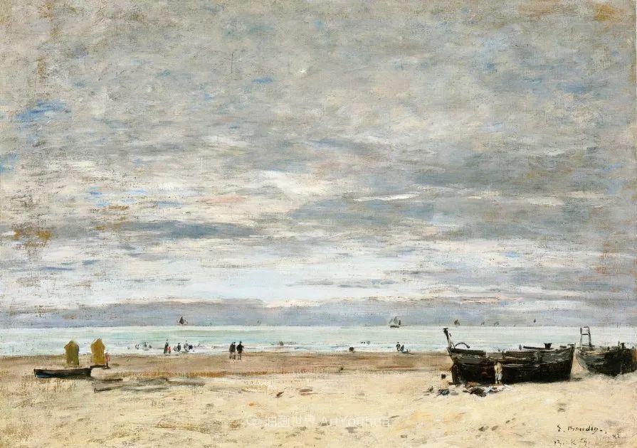 莫奈的启蒙恩师,法国最早印象派画家欧仁·布丹插图228