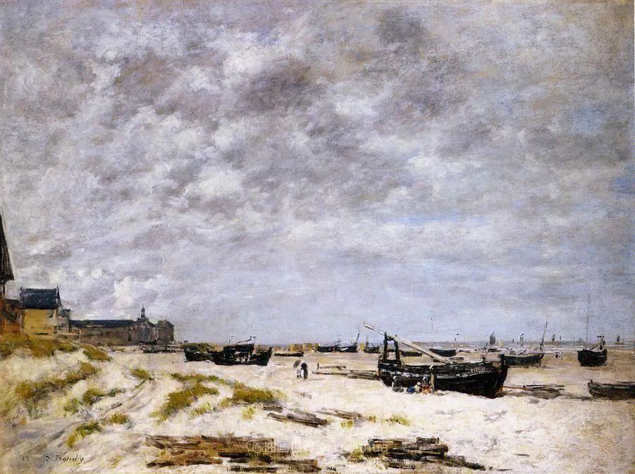 莫奈的启蒙恩师,法国最早印象派画家欧仁·布丹插图232