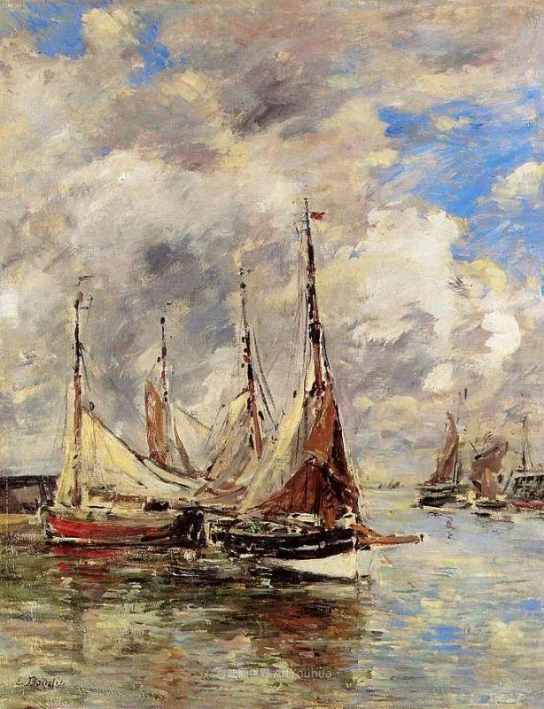 莫奈的启蒙恩师,法国最早印象派画家欧仁·布丹插图254