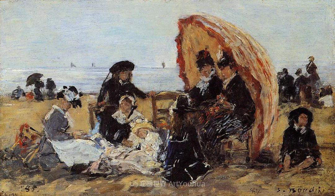 莫奈的启蒙恩师,法国最早印象派画家欧仁·布丹插图276