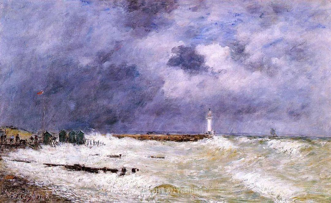 莫奈的启蒙恩师,法国最早印象派画家欧仁·布丹插图294