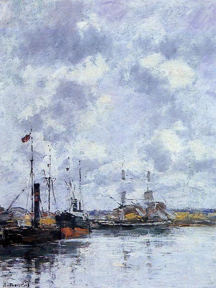 莫奈的启蒙恩师,法国最早印象派画家欧仁·布丹插图296