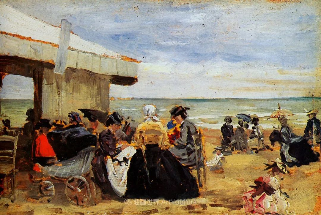 莫奈的启蒙恩师,法国最早印象派画家欧仁·布丹插图312