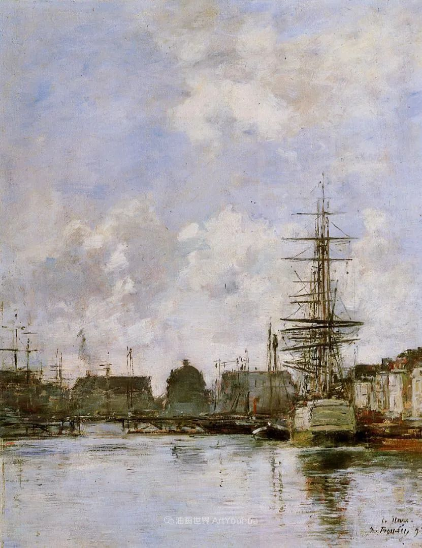 莫奈的启蒙恩师,法国最早印象派画家欧仁·布丹插图314