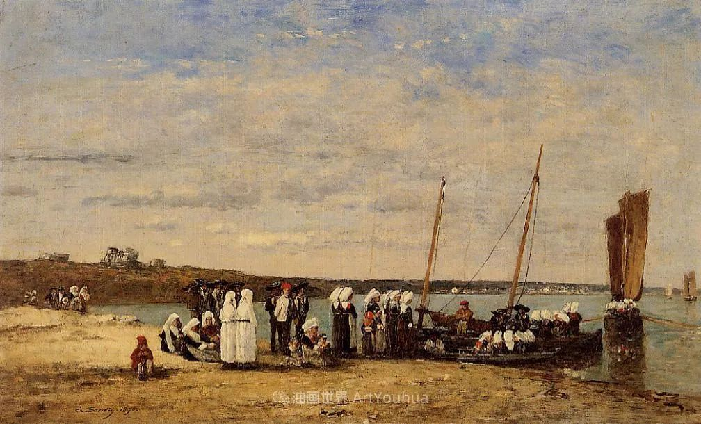 莫奈的启蒙恩师,法国最早印象派画家欧仁·布丹插图330