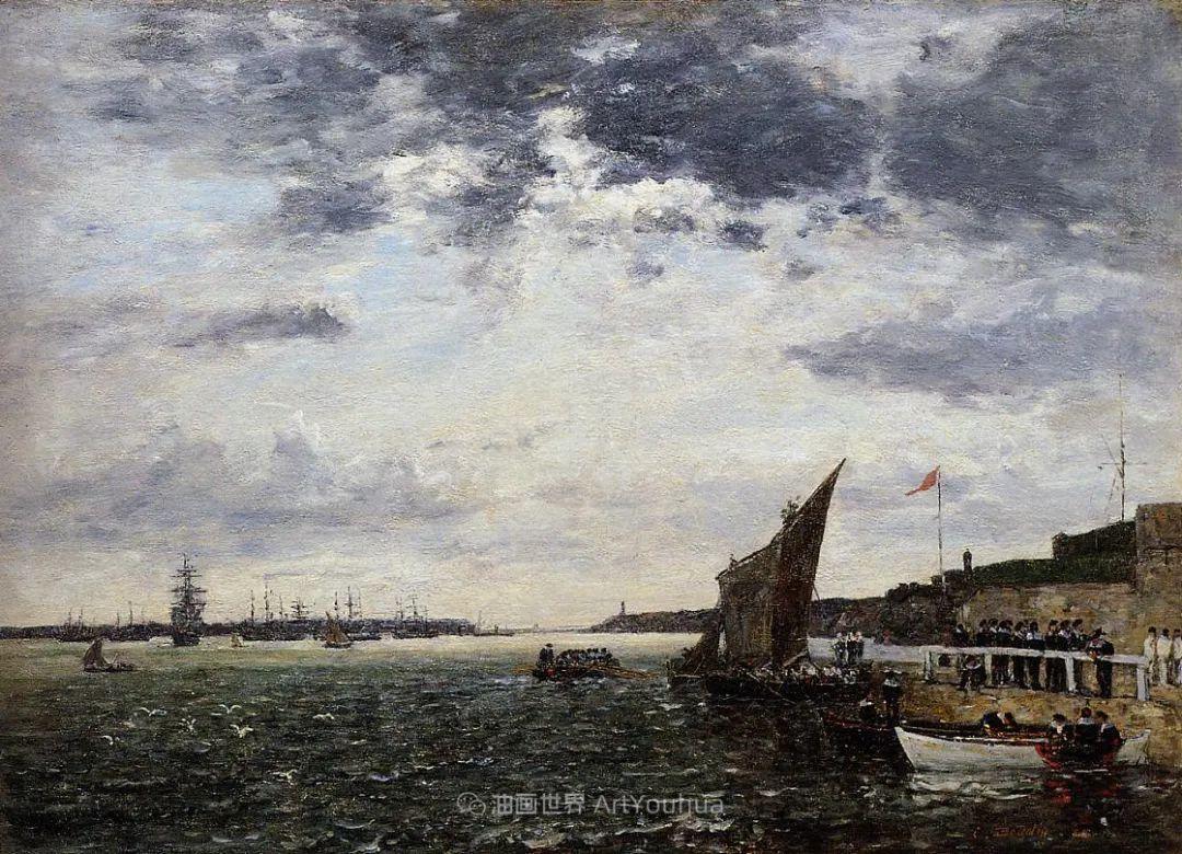 莫奈的启蒙恩师,法国最早印象派画家欧仁·布丹插图334