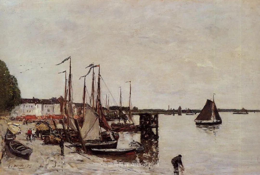 莫奈的启蒙恩师,法国最早印象派画家欧仁·布丹插图338