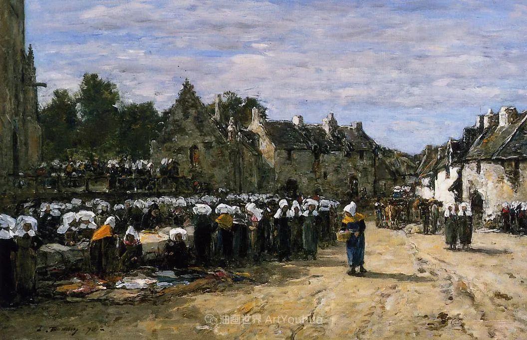 莫奈的启蒙恩师,法国最早印象派画家欧仁·布丹插图348