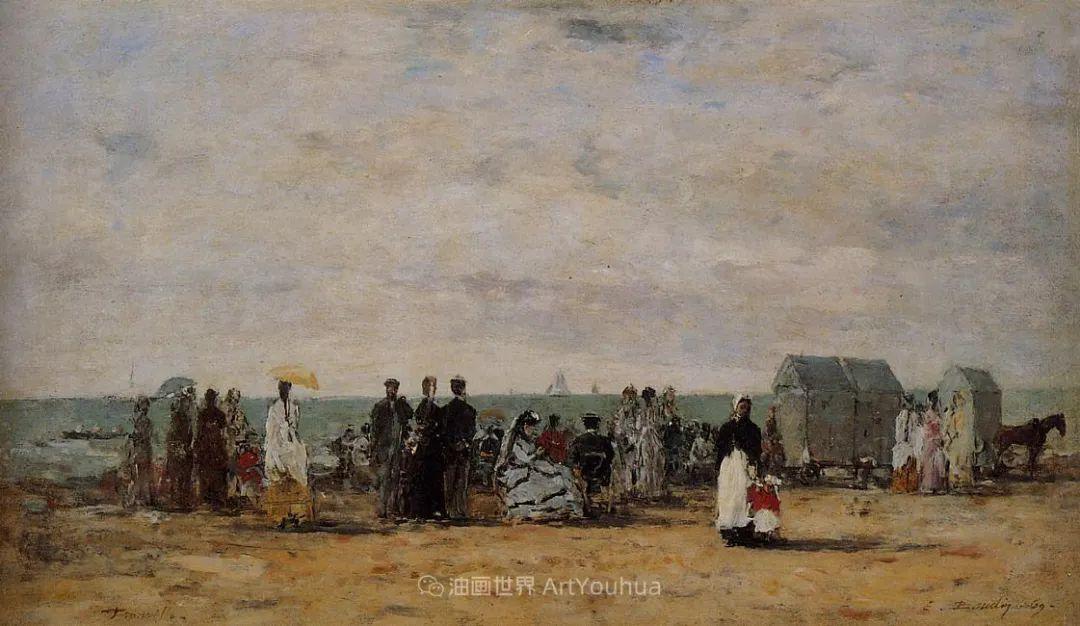 莫奈的启蒙恩师,法国最早印象派画家欧仁·布丹插图350