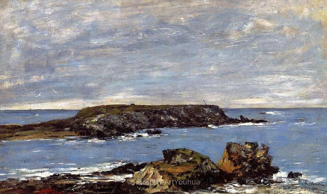 莫奈的启蒙恩师,法国最早印象派画家欧仁·布丹插图354