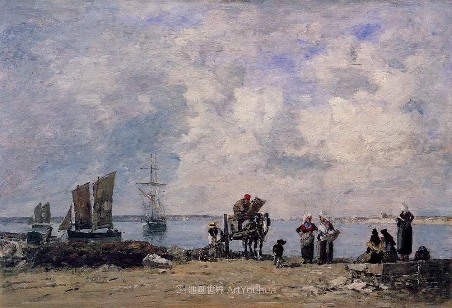 莫奈的启蒙恩师,法国最早印象派画家欧仁·布丹插图362
