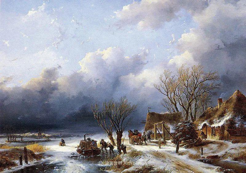 海牙画派先驱,荷兰画家安德烈亚斯·谢尔弗豪特插图1