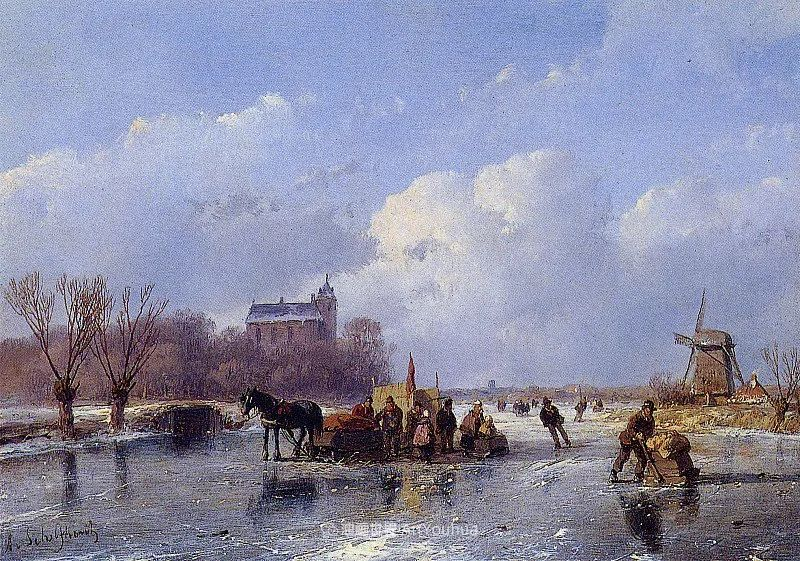 海牙画派先驱,荷兰画家安德烈亚斯·谢尔弗豪特插图3