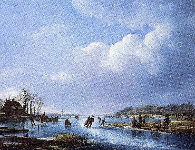 海牙画派先驱,荷兰画家安德烈亚斯·谢尔弗豪特插图5