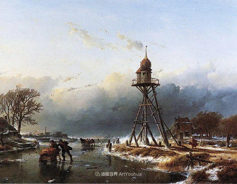 海牙画派先驱,荷兰画家安德烈亚斯·谢尔弗豪特插图7