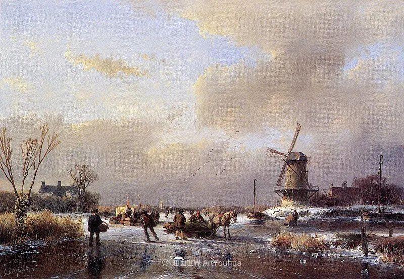 海牙画派先驱,荷兰画家安德烈亚斯·谢尔弗豪特插图9