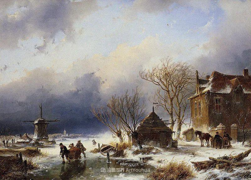 海牙画派先驱,荷兰画家安德烈亚斯·谢尔弗豪特插图13