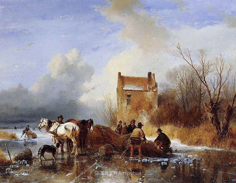 海牙画派先驱,荷兰画家安德烈亚斯·谢尔弗豪特插图15