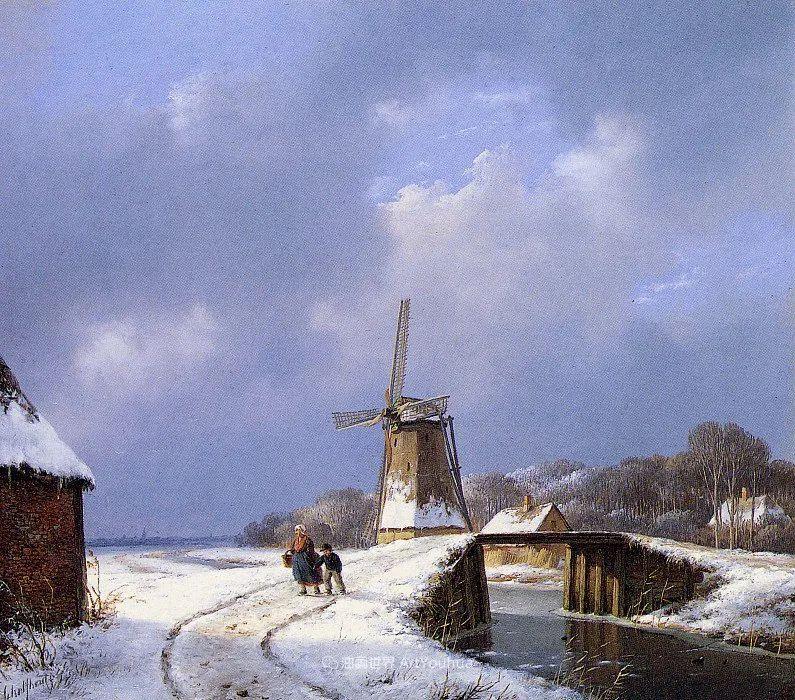 海牙画派先驱,荷兰画家安德烈亚斯·谢尔弗豪特插图17