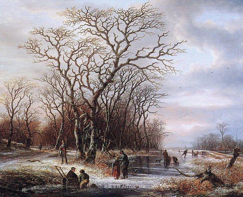 海牙画派先驱,荷兰画家安德烈亚斯·谢尔弗豪特插图19