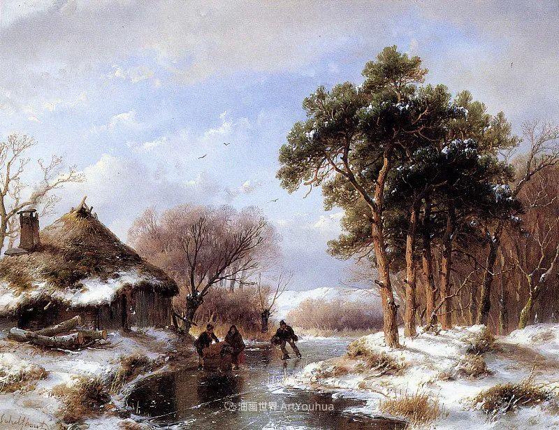 海牙画派先驱,荷兰画家安德烈亚斯·谢尔弗豪特插图21
