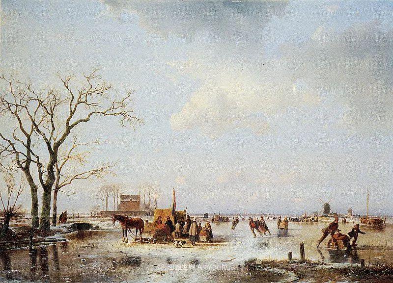 海牙画派先驱,荷兰画家安德烈亚斯·谢尔弗豪特插图23