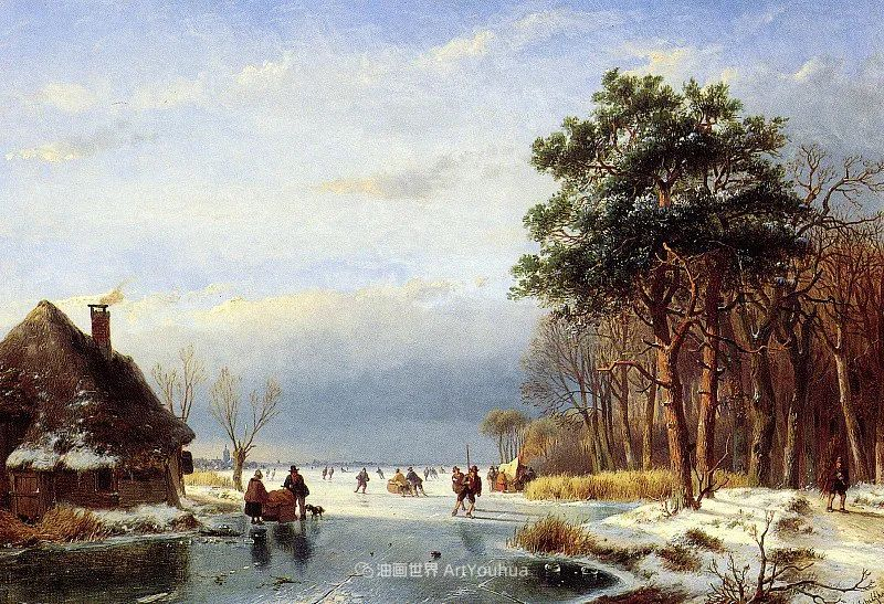 海牙画派先驱,荷兰画家安德烈亚斯·谢尔弗豪特插图25