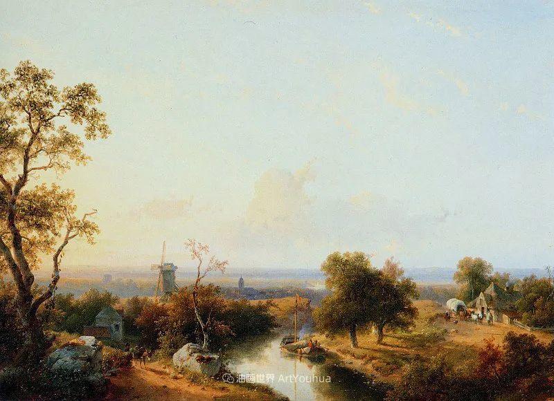 海牙画派先驱,荷兰画家安德烈亚斯·谢尔弗豪特插图29