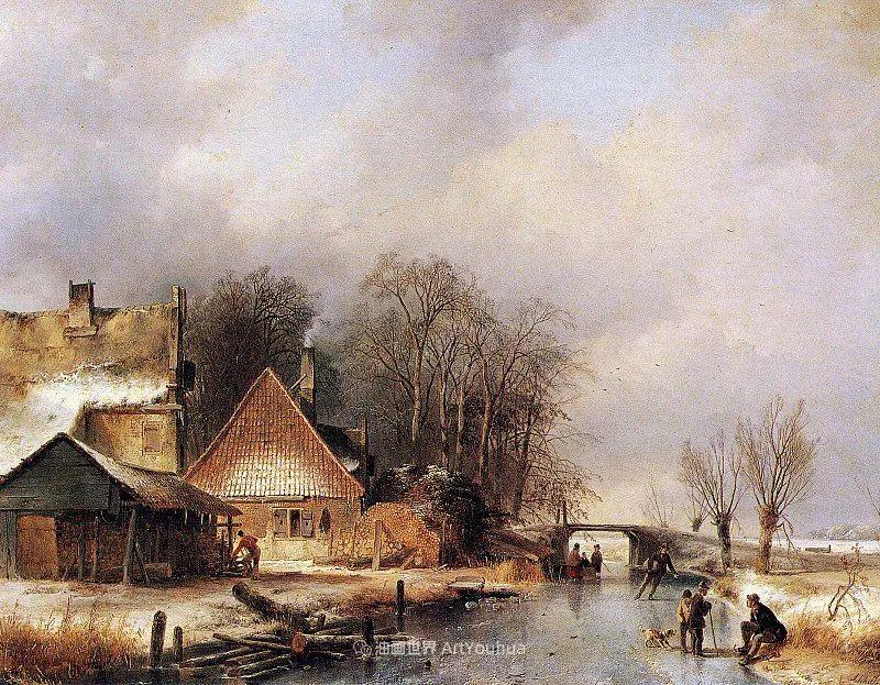 海牙画派先驱,荷兰画家安德烈亚斯·谢尔弗豪特插图31