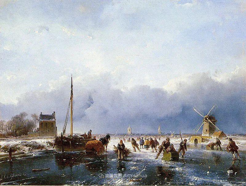 海牙画派先驱,荷兰画家安德烈亚斯·谢尔弗豪特插图33
