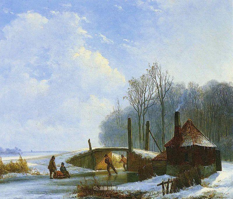 海牙画派先驱,荷兰画家安德烈亚斯·谢尔弗豪特插图39