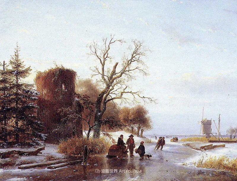 海牙画派先驱,荷兰画家安德烈亚斯·谢尔弗豪特插图41