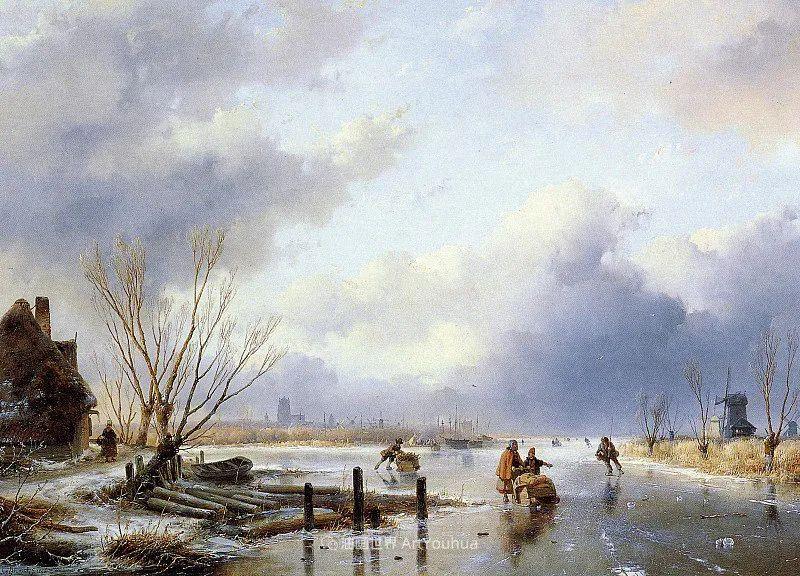 海牙画派先驱,荷兰画家安德烈亚斯·谢尔弗豪特插图43