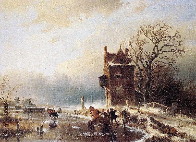 海牙画派先驱,荷兰画家安德烈亚斯·谢尔弗豪特插图45