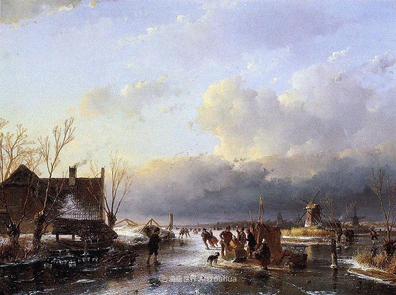 海牙画派先驱,荷兰画家安德烈亚斯·谢尔弗豪特插图47