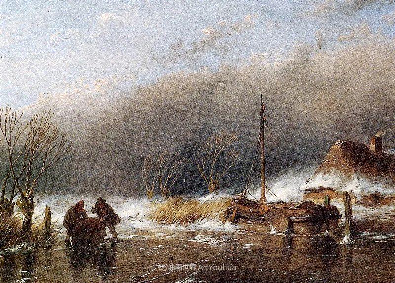 海牙画派先驱,荷兰画家安德烈亚斯·谢尔弗豪特插图49