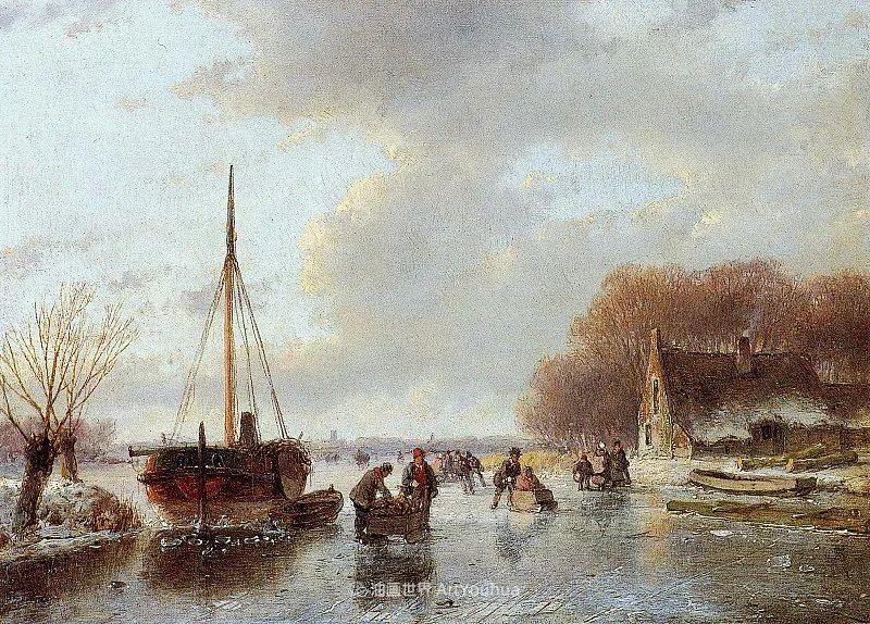 海牙画派先驱,荷兰画家安德烈亚斯·谢尔弗豪特插图51