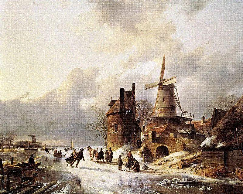 海牙画派先驱,荷兰画家安德烈亚斯·谢尔弗豪特插图53