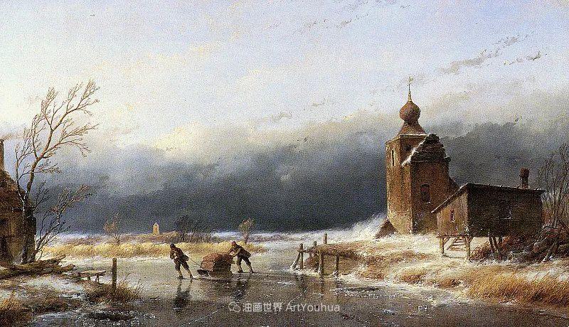 海牙画派先驱,荷兰画家安德烈亚斯·谢尔弗豪特插图55
